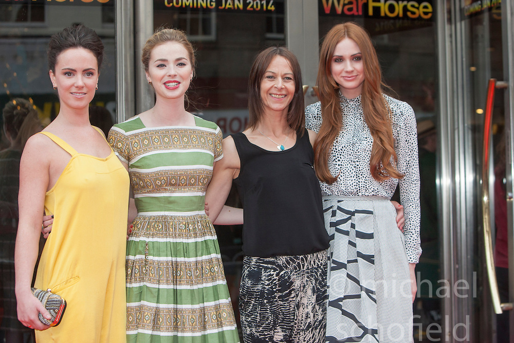 Amy Manson, Freya Mayor, Kate Dickie,Karen Gillan.<br /> Closing night of EIFF gala screening of Not Another Happy Ending at the Festival Theatre.<br /> &copy;Michael Schofield.
