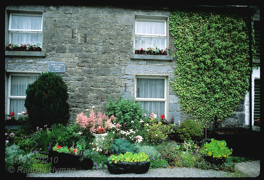 Quiet Man House was home of Maureen O'Hara's movie character at Ashford Castle estate; Cong. Ireland