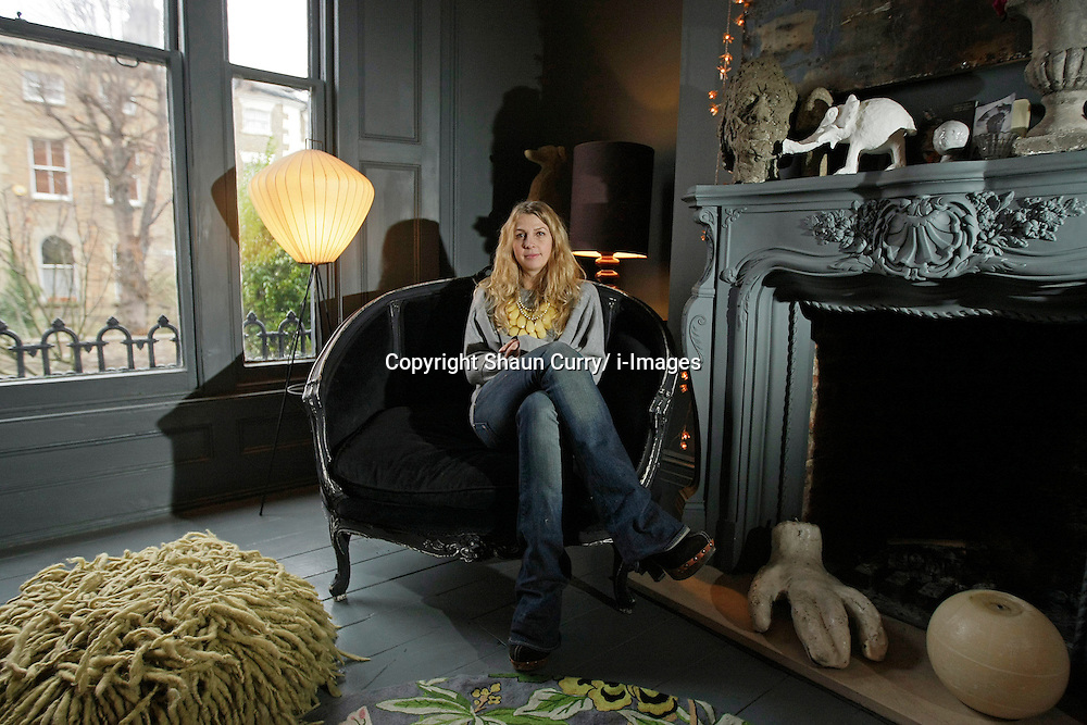 Abigail Ahern's in her East London home, December 2010. Photo by Shaun Curry/i-Images.
