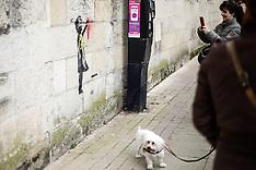 Mural depicting inspired by Banksy graffiti artist in Bordeaux - 19 Feb 2019