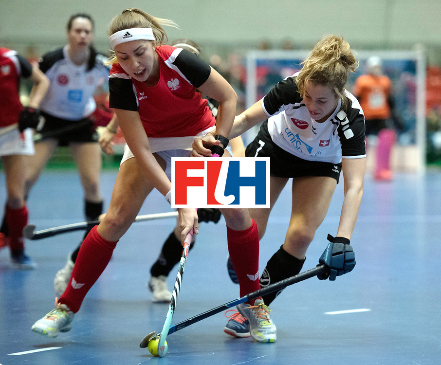 BERLIN - Indoor Hockey World Cup<br /> Switzerland - Poland<br /> foto: ST&Uuml;HLINGER Julia<br /> WORLDSPORTPICS COPYRIGHT FRANK UIJLENBROEK
