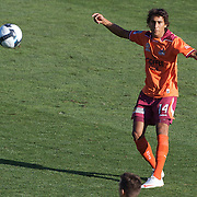 Adam Sarota in action during the Central Coast Mariners V Brisbane Roar A-League match at Bluetongue Stadium, Gosford, Australia, 19 December 2009. Photo Tim Clayton