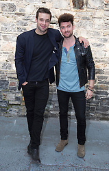 Repro Free: 11/09/2014<br /> Bressie and Eoghan McDermott pictured at the RT&Eacute; Two New Season Launch in Gateway House, Capel Street. Picture Andres Poveda