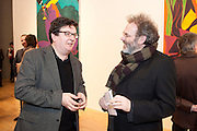 MARK WALLINGER; MATTHEW COLLINGS, Chris Ofili private view for the opening of his exhibition. Tate. London. 25 January 2010