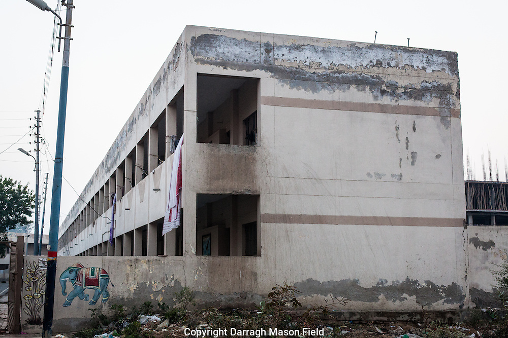 The state run Mahila Ashray Sadan shelter for Widows in the new suburb area of Vrindavan.  A short walk from this building is a new Hindu temple pre-ported to cost $1,000,000.  While this may look dilapidated its was one the best in the area and the women were safe.