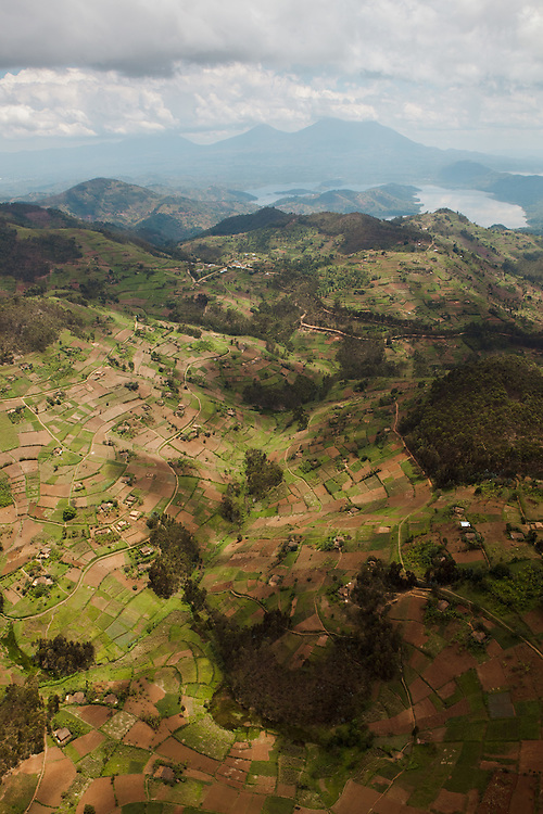 Rwanda (the northern region) from the air