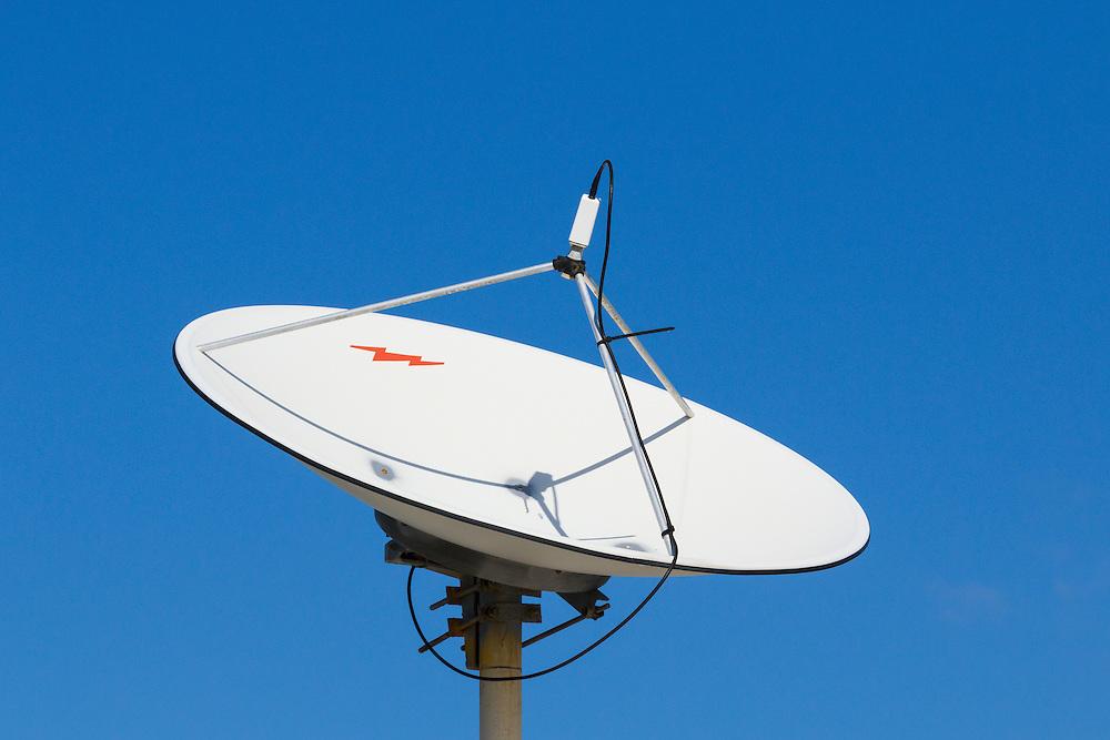 VSAT Satellite dish antenna at cellular communications site