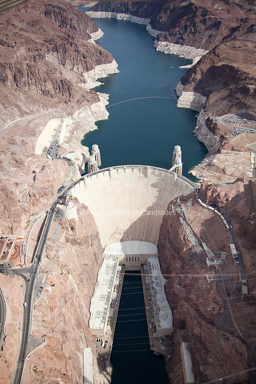 Built in 1936, the Hoover Dam was the first of the major multipurpose concrete dams built for flood control, hydropower, recreation, irrigation, and water supply.
