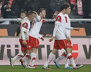 POZNAN 17/11/2010.FOOTBALL INTERNATIONAL FRIENDLY.POLAND v IVORY COAST.Ludovic Obraniak of Poland celebrates his goal ..Fot: Piotr Hawalej / WROFOTO