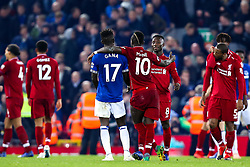 Sadio Mane of Liverpool consoles Idrissa Gueye of Everton after Liverpool's dramatic victory over Everton - Mandatory by-line: Robbie Stephenson/JMP - 02/12/2018 - FOOTBALL - Anfield - Liverpool, England - Liverpool v Everton - Premier League