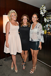 The UK Premier of Johnnie Walker Blue Label's 'Gentleman's Wager' - a short film starring Jude Law was held at The Bulgari Hotel & Residences, 171 Knightsbridge, London on 22nd July 2014.<br /> Picture Shows:-Left to right, NATALIE COYLE, NATALIE PINKHAM and LAVINIA BRENNAN.
