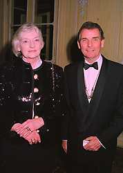 MR & MRS CLIVE BRITTAIN, he is the trainer, at a dinner in London on 19th November 1997.MDM 15