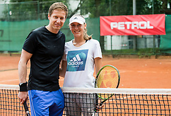 Uros Mesojedec and Kaja Juvan at Petrol VIP tournament 2018, on May 24, 2018 in Sports park Tivoli, Ljubljana, Slovenia. Photo by Vid Ponikvar / Sportida