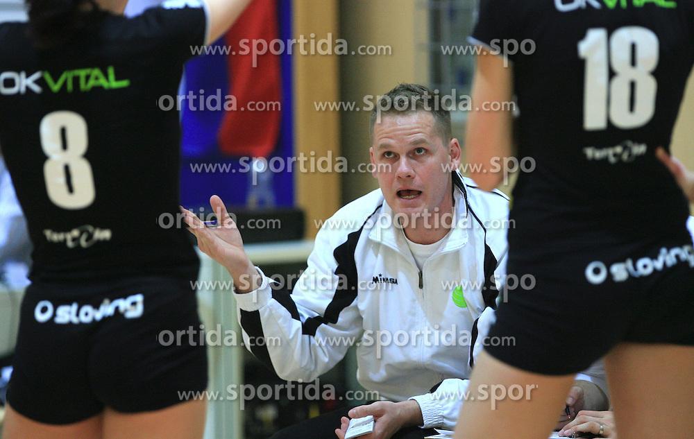 Coach of OK Vital Joze Casar at semifinal of 1st DOL volleyball match between OK Sloving Vital, Ljubljana and OK Nova KBM Branik, Maribor played in BIC center, on April 1, 2009, in Ljubljana, Slovenia. Nova KBM Branik won 3:1. (Photo by Vid Ponikvar / Sportida)