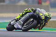 #46 Valentino Rossi, Italian: Movistar Yamaha MotoGP during racing on the Bugatti Circuit at Le Mans, Le Mans, France on 19 May 2019.