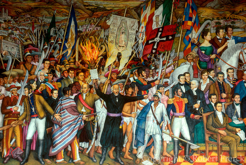 MEXICO, MEXICO CITY, MURALS Independence Mural, Father Hidalgo