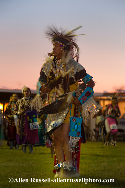 Traditional dancer, Crow Fair powwow, Crow Indian Reservation, Montana