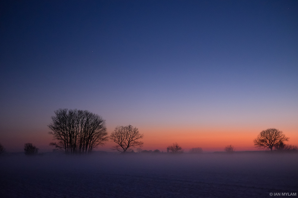 Winter Dusk, Isle of Funen, Denmark