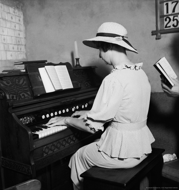 Organist at Old Mill Church, Reigate Heath, Surrey, England, 1937