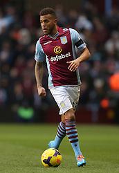 Aston Villa's Ryan Bertrand - Photo mandatory by-line: Matt Bunn/JMP - Tel: Mobile: 07966 386802 08/02/2014 - SPORT - FOOTBALL - Birmingham - Villa Park - Aston Villa v West Ham United - Barclays Premier League