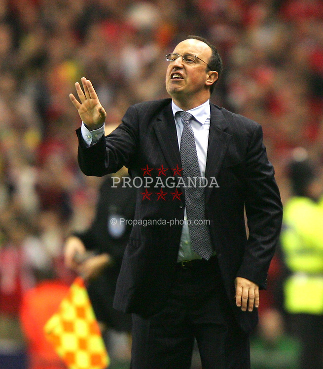 LIVERPOOL, ENGLAND. TUESDAY, MAY 3rd, 2005: Liverpool's manager Rafael Benitez during the UEFA Champions League Semi Final 2nd Leg at Anfield. (Pic by David Rawcliffe/Propaganda)