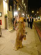 Jasmine Lennard. Outside the GQ Style party. Harvey Nichols. Knightsbridge. 21 September 2005. ONE TIME USE ONLY - DO NOT ARCHIVE  © Copyright Photograph by Dafydd Jones 66 Stockwell Park Rd. London SW9 0DA Tel 020 7733 0108 www.dafjones.com