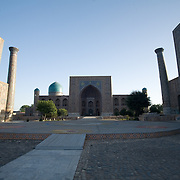 Samarkand's Registan, empty in the early morning