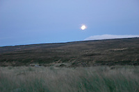 Grainy night-time landscape of The Sally Gap, County Wicklow, Ireland