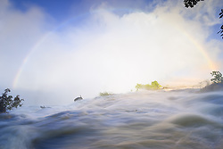 July 21, 2019 - Rainbow Over Eastern Cataract, Victoria Falls, Zambezi River, Zambia, Africa (Credit Image: © Carson Ganci/Design Pics via ZUMA Wire)