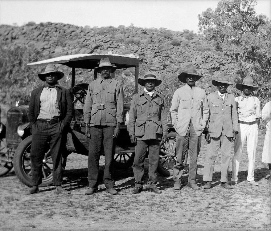 Aboriginal Police Trackers, Central Australia, 1930