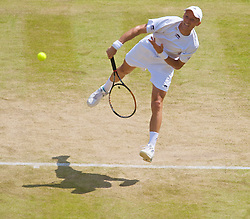 LONDON, ENGLAND - Saturday, June 27, 2009: Nikolay Davydenko (RUS) during the Gentlemen's Singles 3rd Round match on day six of the Wimbledon Lawn Tennis Championships at the All England Lawn Tennis and Croquet Club. (Pic by David Rawcliffe/Propaganda)