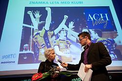 Ivanka Mihelcic of ACH Volley and Sasa Jerkovic during Sporto  2010 Gala Dinner and Awards ceremony at Sports marketing and sponsorship conference, on November 29, 2010 in Hotel Slovenija, Portoroz/Portorose, Slovenia. (Photo By Vid Ponikvar / Sportida.com)