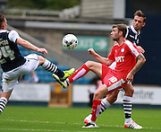 ll against Millwall player Ben Thompsonhesterfield player Jay O'Shea wins a high bak during the Sky Bet League 1 match between Millwall and Chesterfield at The Den, London, England on 29 August 2015. Photo by Bennett Dean.