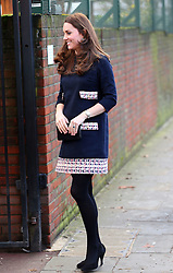 Catherine, Duchess of Cambridge arriving at the Barlby Primary School in west London, UK. 15/01/2015<br />