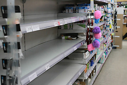 Empty Shelves in a co-operative store during the Corona Virus Pandemic<br /> <br /> Ben Booth | 20/03/2020