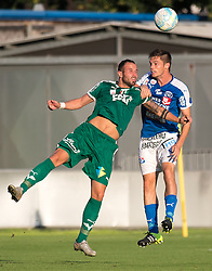 29.07.2016, Gernot Langes Stadion, Wattens, AUT, 2. FBL, WSG Wattens vs Floridsdorfer AC, 2. Runde, im Bild Benjamin Pranter (WSG Wattens) und Christain Deutschmann (Floridsdorfer AC) // during second Austrian Bundesliga 2nd round match between WSG Wattens and Floridsdorfer AC, at the Gernot Langes Stadion in Wattens, Austria on 2016/07/29. EXPA Pictures © 2016, PhotoCredit: EXPA/ Jakob Gruber