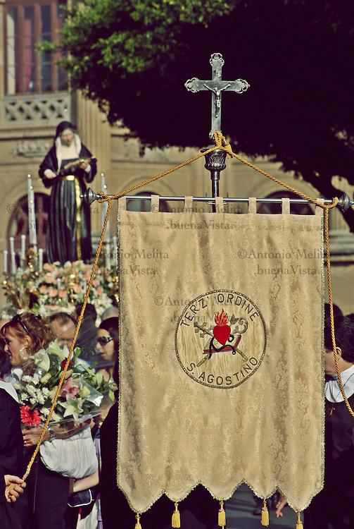 Processione in onore di Santa Rita da Cascia in Sant'Agostino a Palermo.<br /> <br /> Palermo, procession of Saint Rita from Cascia.