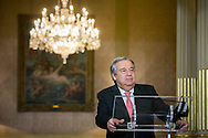 New appointed United Nations general secretary Antonio Guterres speaks to the press in Lisbon, on October 6, 2016. Rodrigo Cabrita/4SEE