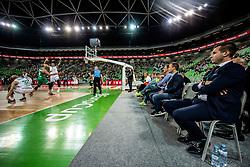 Sani Becirovic (R) of Cedevita Olimpija during basketball match between KK Cedevita Olimpija and Darussafaka Tekfen Istanbul in 1st Round of Eurocup 2019/20, on October 2, 2019 in Arena Stozice, Ljubljana, Slovenia. Photo by Vid Ponikvar / Sportida