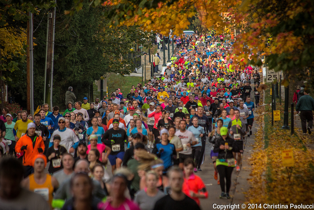 Columbus Marathon pass through Bexley Sunday morning October 19th 2014. (Christina Paolucci, photographer).
