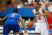 Nick Russell #12 of the SMU Mustangs brings the ball up the court against the Memphis Tigers at Moody Coliseum on Wednesday, February 6, 2013 in University Park, Texas. (Cooper Neill/The Dallas Morning News)