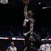 Chris Silva, South Carolina, hits the rim with his slam dunk attempt during the St. John's vs South Carolina Men's College Basketball game in the Hall of Fame Shootout Tournament at Mohegan Sun Arena, Uncasville, Connecticut, USA. 22nd December 2015. Photo Tim Clayton