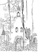 Portuguese Church in Myliddi, Jaffna by Barbara Sansoni. 1971