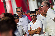 SPAIN, Cartagena. 28th August 2011. AUDI MedCup, Region of Murcia Cartagena Trophy. Jochen Schumann and Marcel van Triest in the crowd at the Region of Murcia Cartagena Trophy prize giving.