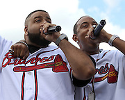 ATLANTA, GA - MAY 14:  DJ Khaled and Ludacris perform during a post-game concert after the game between the Atlanta Braves and the Philadelphia Phillies at Turner Field on May 14, 2011 in Atlanta, Georgia.  (Photo by Mike Zarrilli/Getty Images)