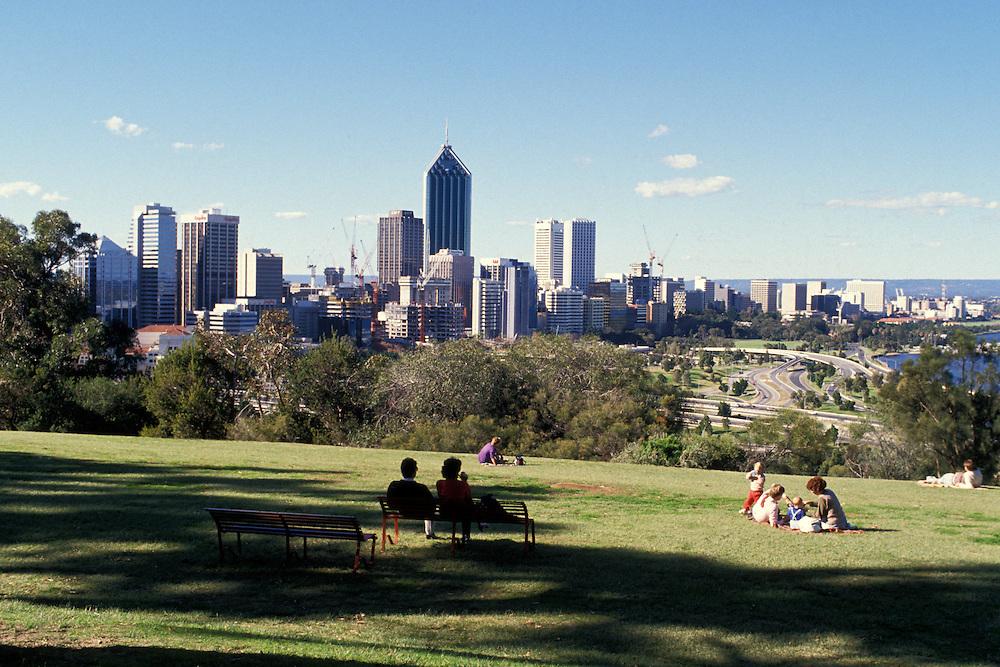 Picnic overlooking Perth, Western Australia