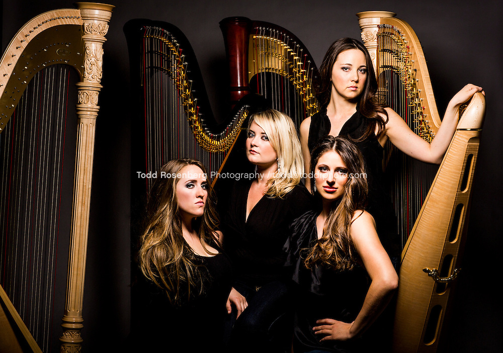 The Chicago Harp Quartet<br /> <br /> Marguerite Lynn Williams, Katherine Ventura, Catherine Litaker, and Emily Ann Granger<br /> <br />  &not;&copy; Todd Rosenberg Photography 2013