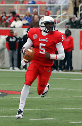 04 October 2014: Tre Roberson during an NCAA FCS Missouri Valley Football Conference game between the South Dakota State Jackrabbits and the Illinois State University Redbirds at Hancock Stadium in Normal Illinois