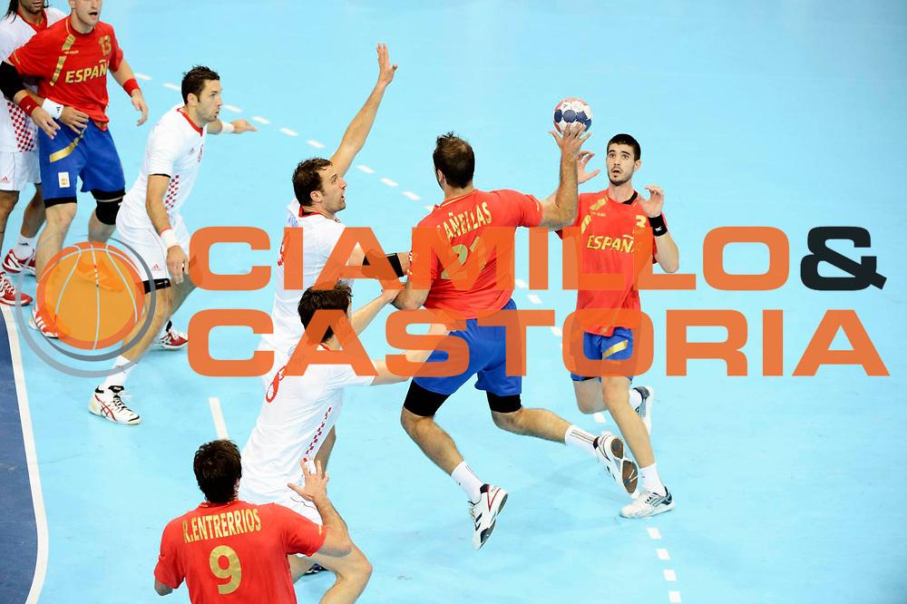 DESCRIZIONE : Handball Jeux Olympiques Londres <br /> GIOCATORE : Canellas  Joan ESP<br /> SQUADRA : Espagne HOMME<br /> EVENTO :  Handball Jeux Olympiques<br /> GARA : Croatie Espagne<br /> DATA : 06 08 2012<br /> CATEGORIA : handball Jeux Olympiques<br /> SPORT : HANDBALL<br /> AUTORE : JF Molliere <br /> Galleria : France JEUX OLYMPIQUES 2012 Action<br /> Fotonotizia : France Handball Homme Jeux Olympiques Londres premier tour Copper Box<br /> Predefinita :