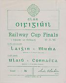 17.03.1965 Railway Cup Finals Programme